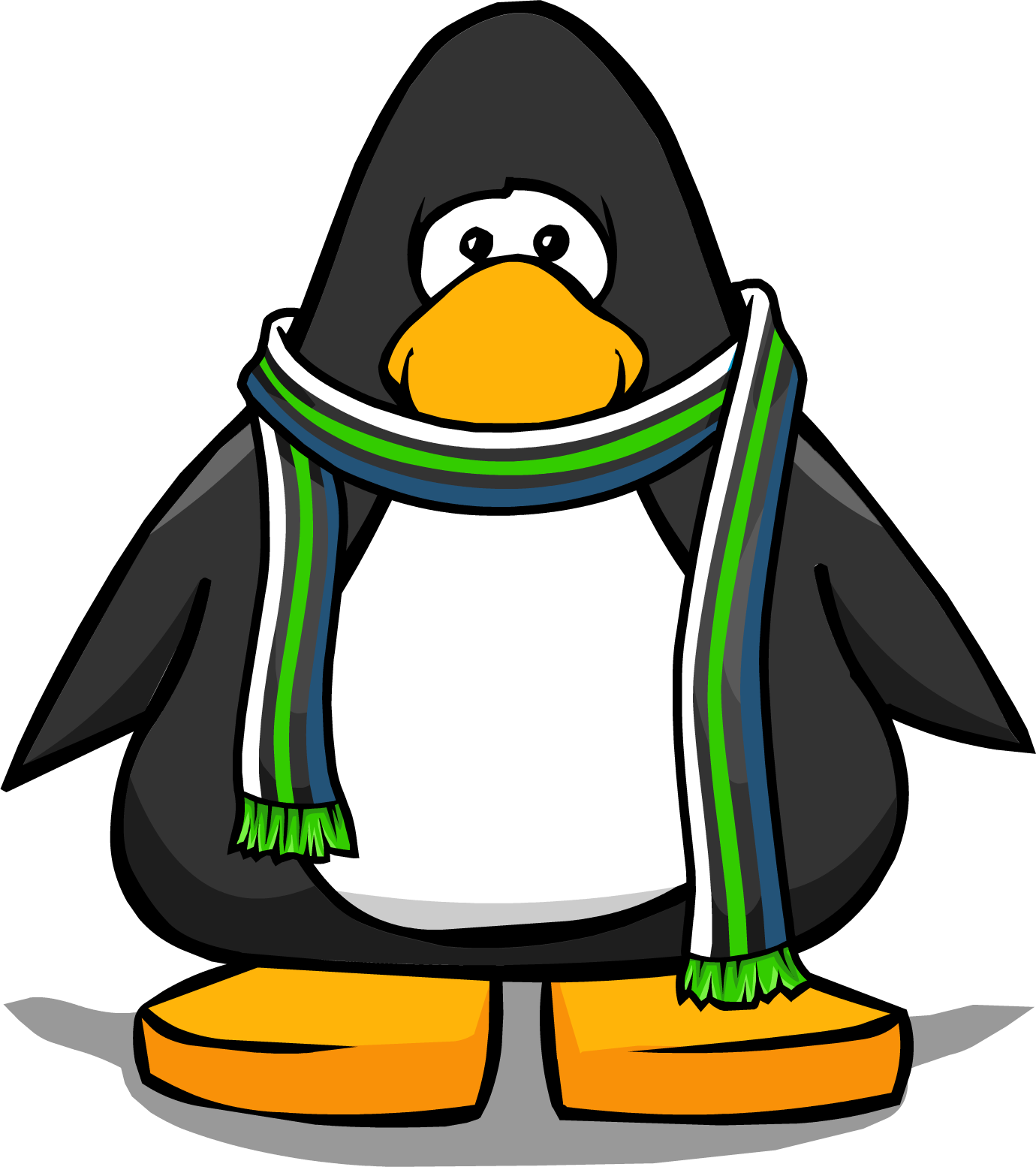 Club Penguin Blue Scarf Green And Blue Scarf Club