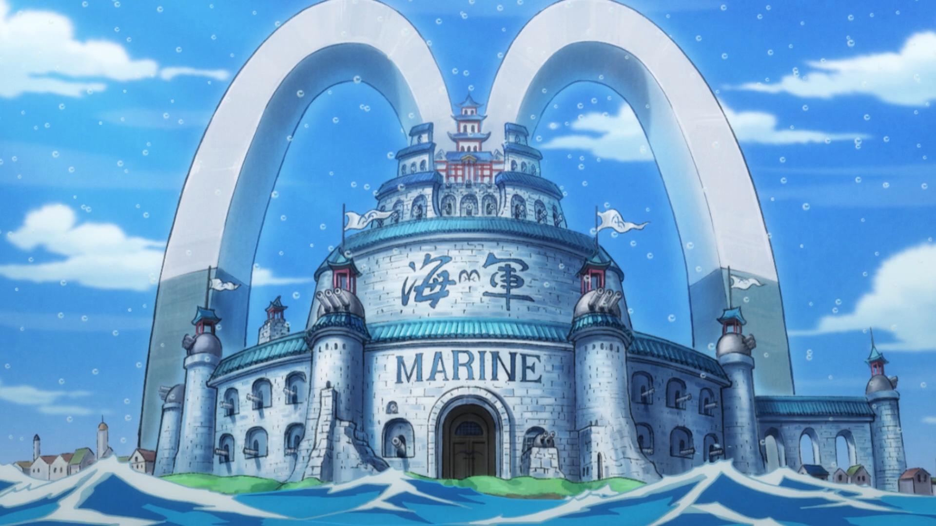 Ranks In Marine >> Marine Headquarters - The One Piece Wiki - Manga, Anime, Pirates, Marines, Treasure, Devil ...