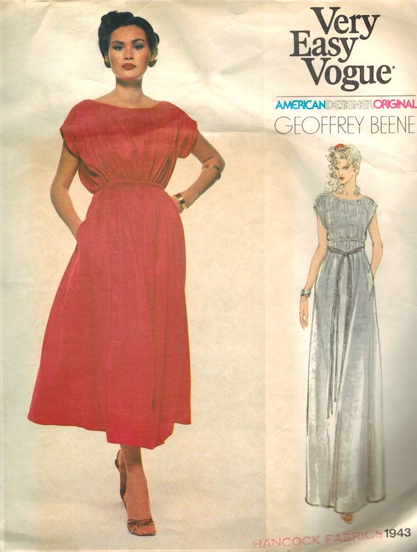 1970s Geoffrey Beene maternity dress pattern - Vogue 1943