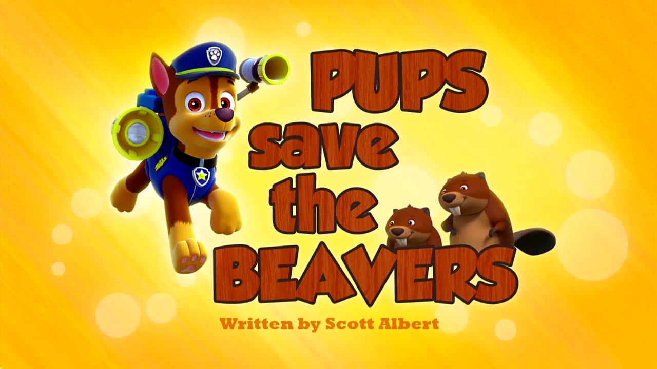 Pups Save The Beavers Paw Patrol Wiki