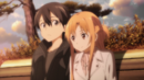 Kazuto and Asuna on a bench.png