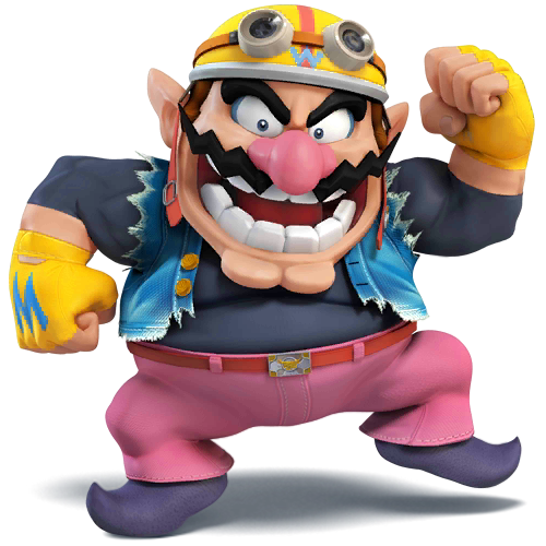 Wario is a playable character for the second time in super smash bros