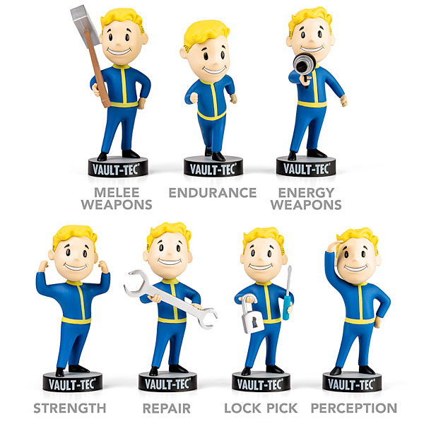 Vault Boy With Gun Vault Boy Bobblehead Series 1