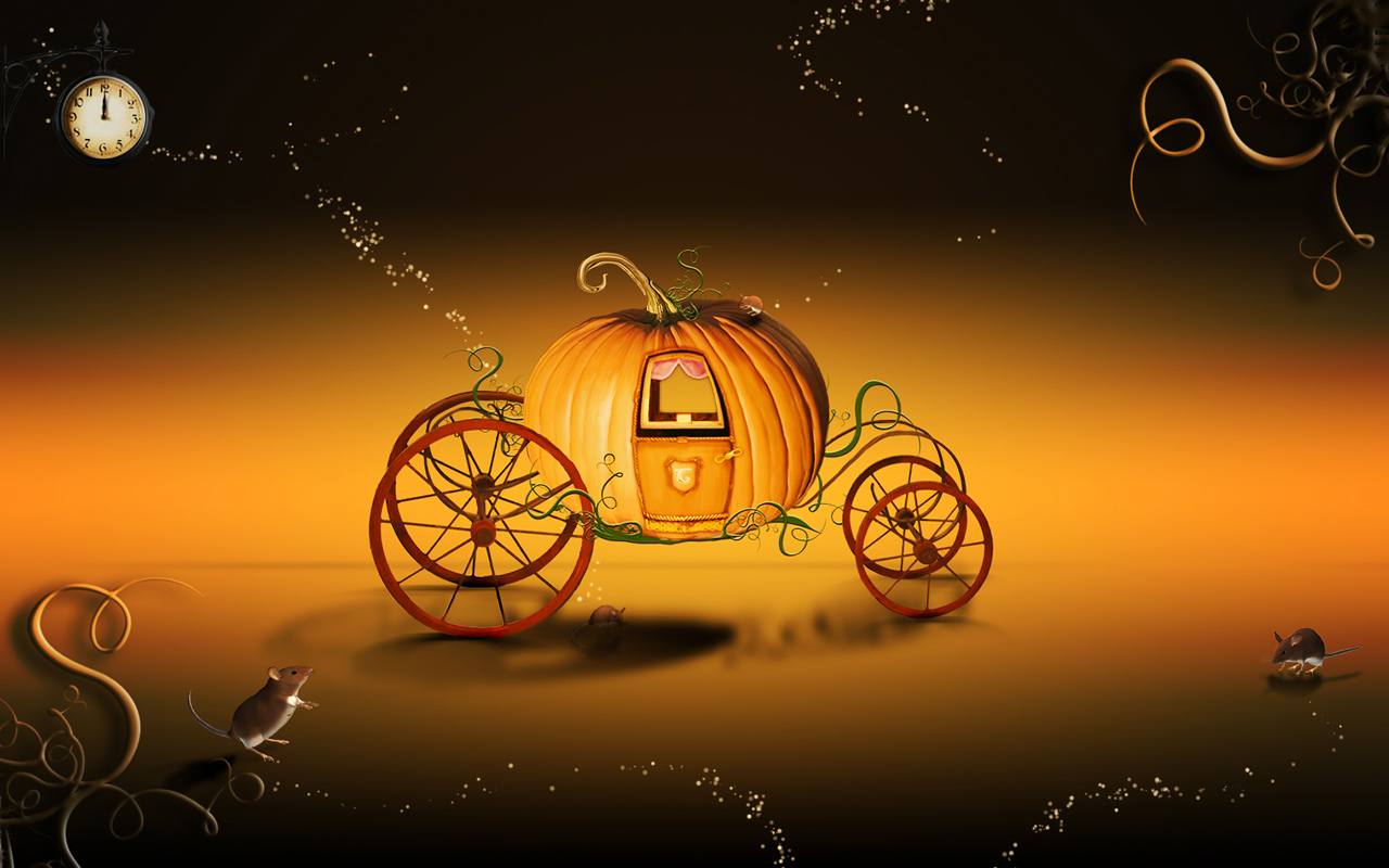14' Airblown Pumpkin Carriage Halloween Inflatable | Pumpkin ...