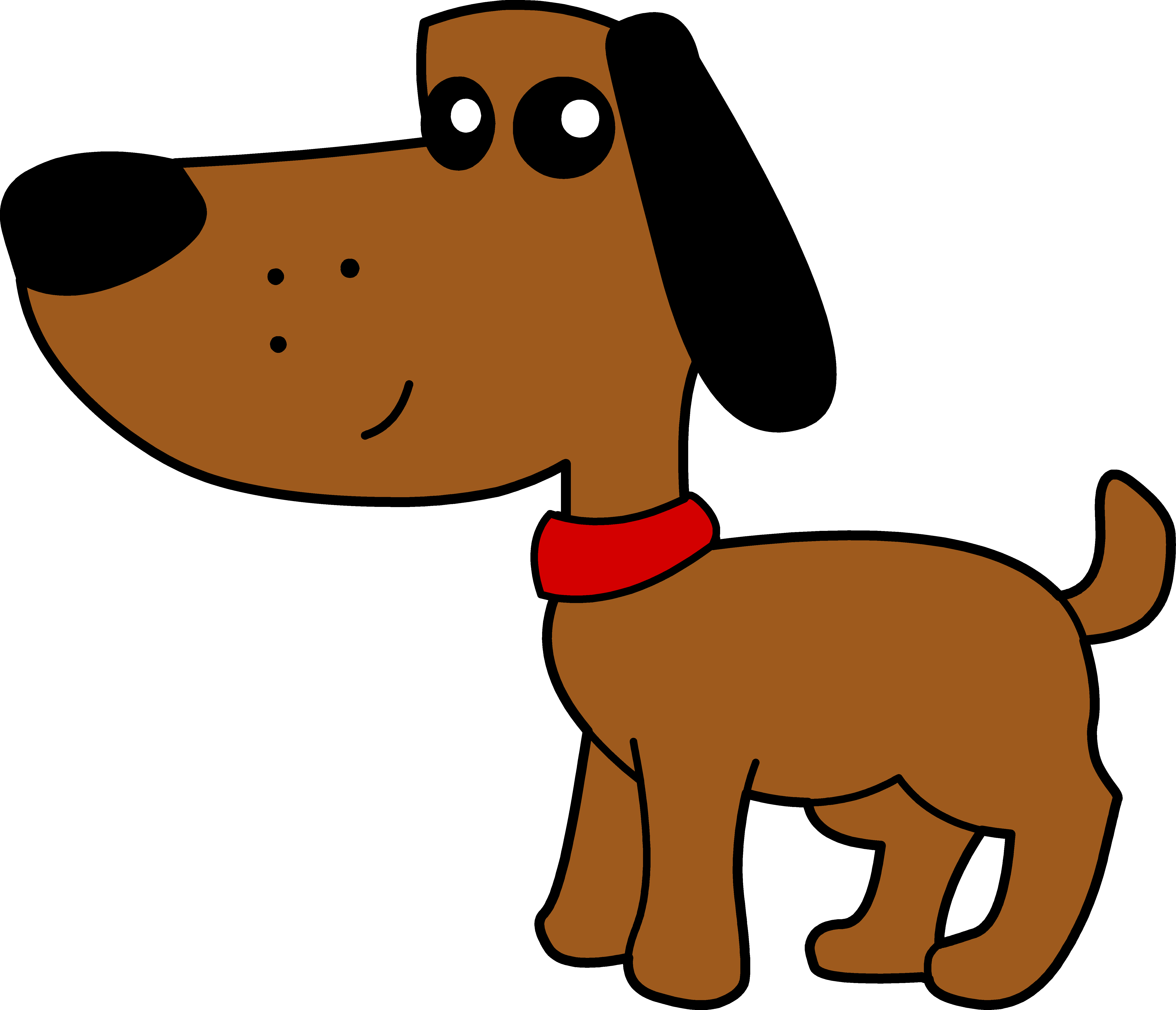 ... dog-clipartcute-brown-dog-with-red-collar---free-clip-art-tsitailf.png