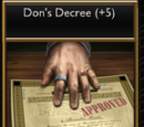 Don's Decree