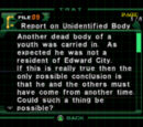 Report on Unidentified Body