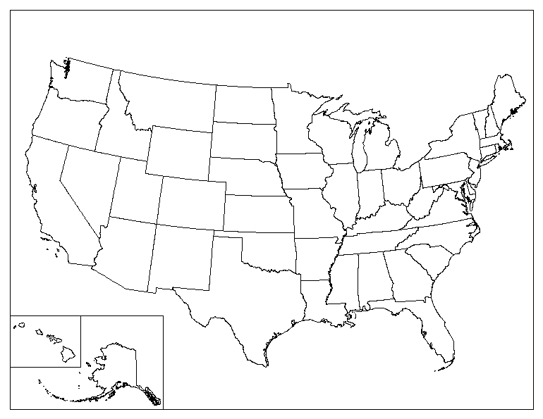 Blank Usa Map Printable Printable Maps - Blank usa map