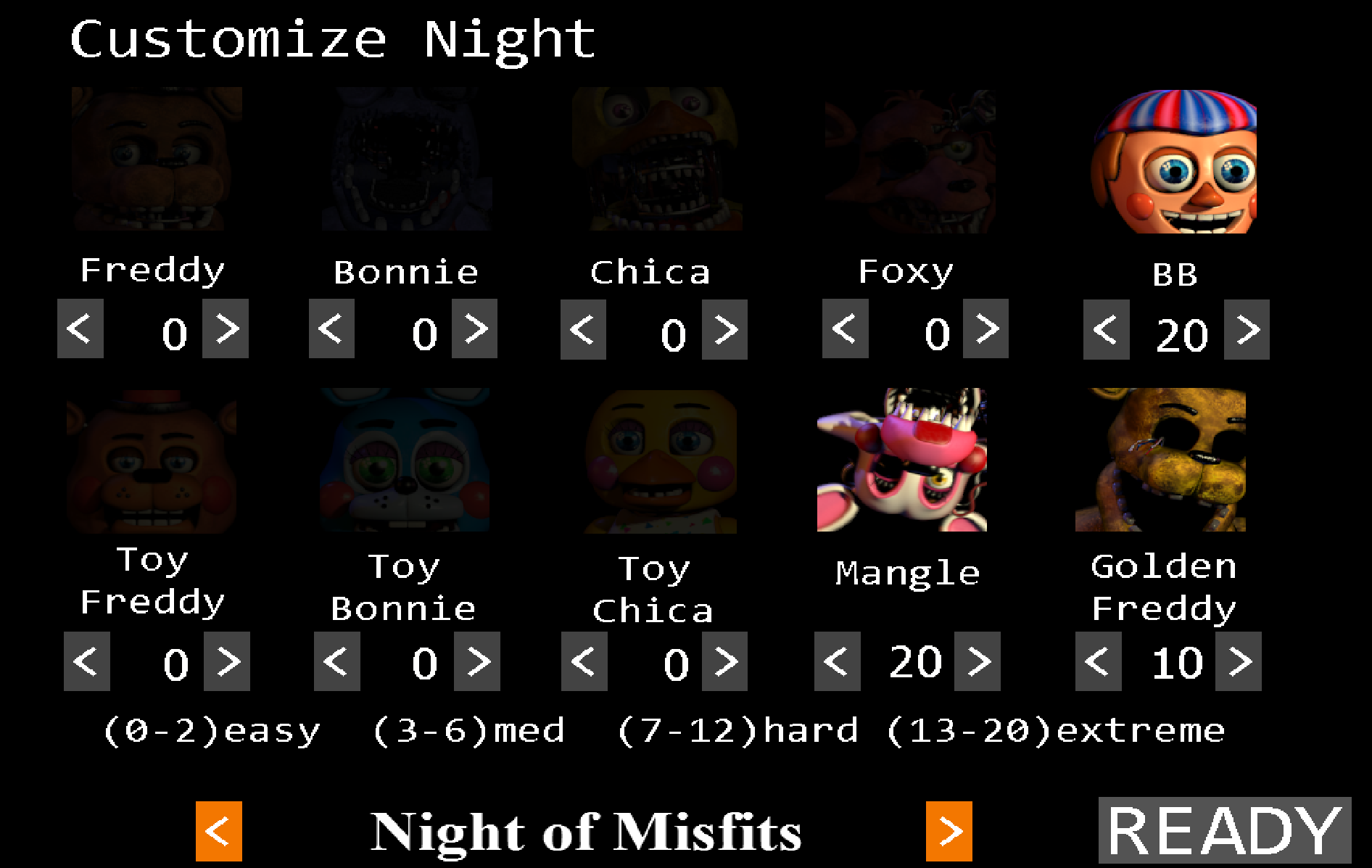 Noche personalizada fnaf 2 five nights at freddy s wiki