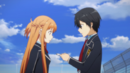 Kazuto giving Asuna an address to a hospital.png