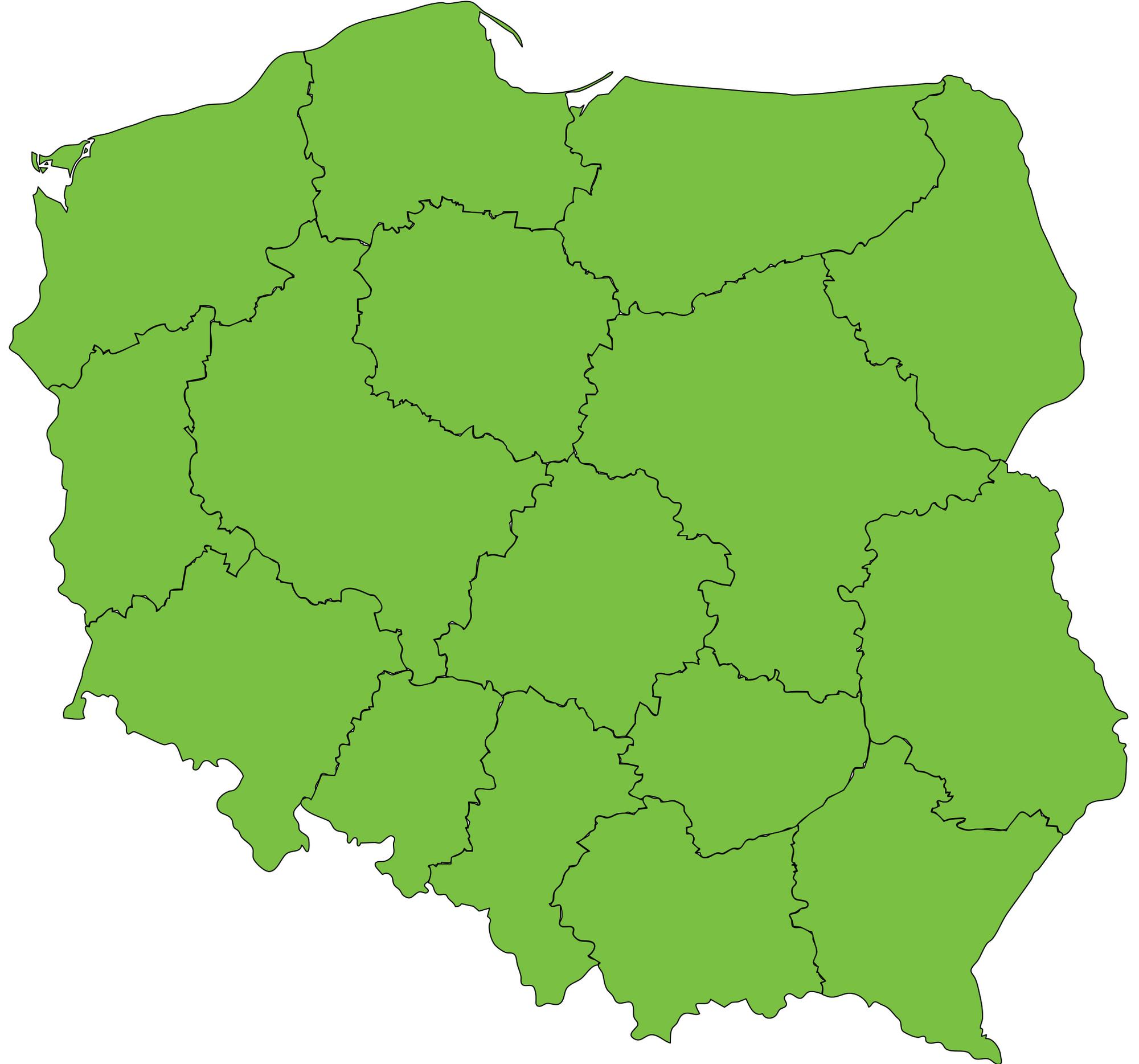 Mapa Polski na Województwa Plik:mapa Polski Wojewodztwa