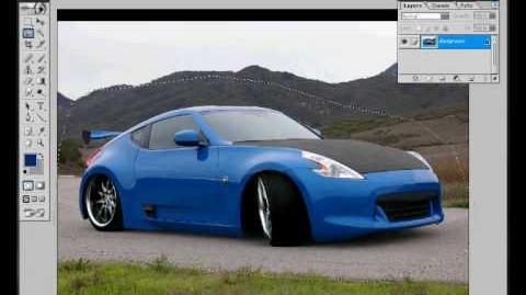 Virtual tuning nissan 370z on photoshop 7.0