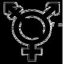 Transgender symbol with agender transparent background.png