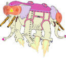 Ancient Psychic Tandem War Elephant