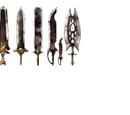 Sir Lancelot's swords