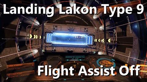 Elite Dangerous Docking Lakon Type 9 (Flight Assist off) Beta 1.06 Dual joystick