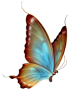 Brown and Blue Transparent Butterfly Clipart.png
