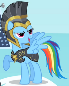Rainbow Dash - Commander Hurricane S2E11