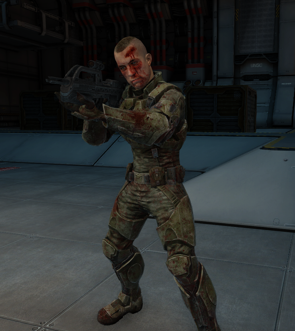 Unsc Marines Halo 2 Anniversary The Bloody Unsc Marine in Halo