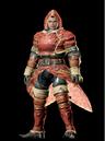 MHO-Red Khezu Armor (Blademaster) (Male) Render 001.png