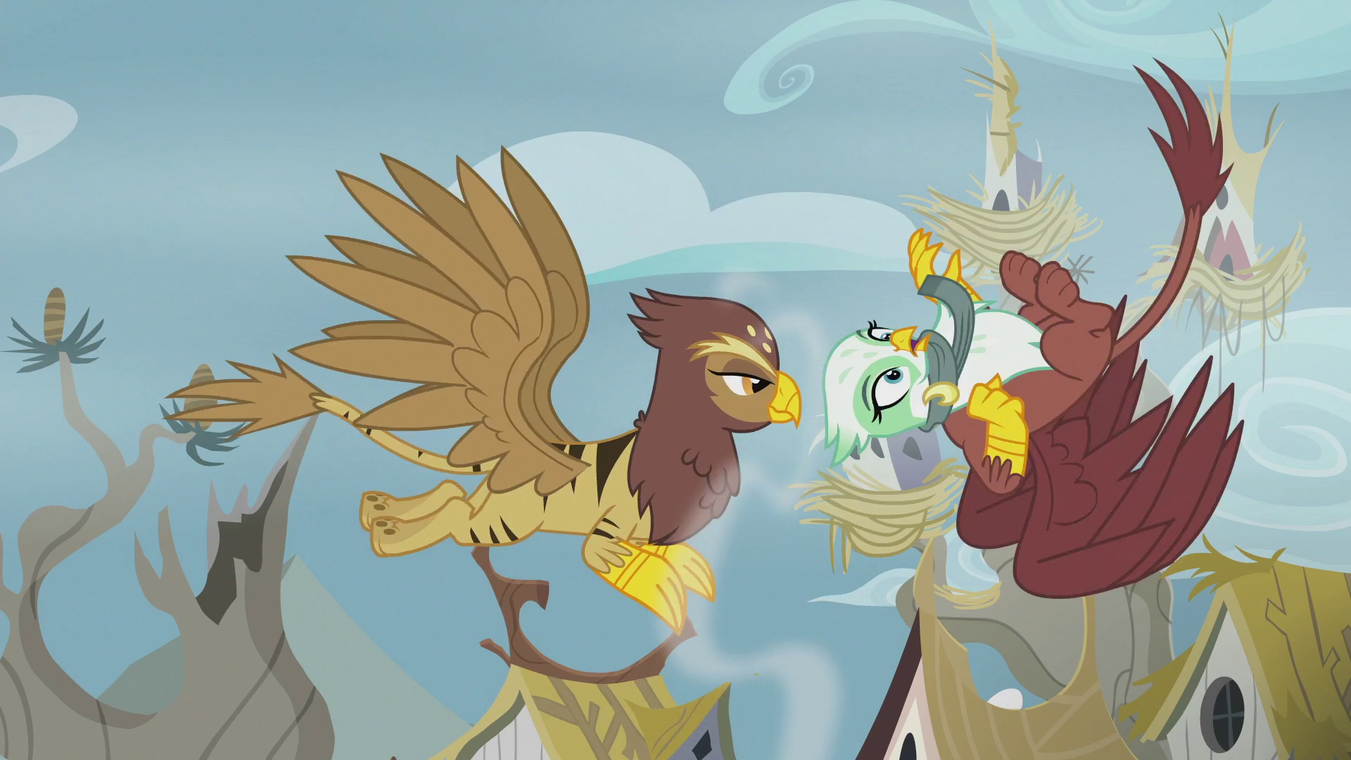 Greta Gets Accidentally Hit By Another Griffon S5e8 Png