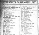 List of Titanic's passengers and crew