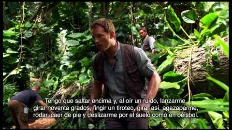JURASSIC WORLD - Diario de Rodaje con Chris Pratt Escenas de Acción