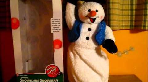 Gemmy - Spinning Snowflake Snowman (2 Song Version)