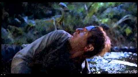 Dinosaur attack in Jurassic Park 2