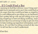 Yo bebería... Si pudiera encontrar un bar