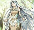 Demoiselle aux Yeux Couleur Bleu