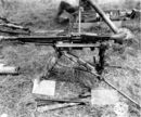 Captured MG 42 on Lafette tripod in the American sector, Normandy 1944.jpg
