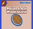Polished Ash Wood Shield