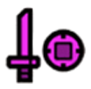 Sword and Shield Icon Magenta.png