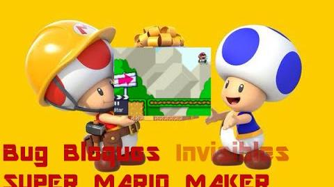 ¡Hacer Plataformas Invisibles en Mario Maker! (bug)