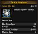 Serious Snow Bomb