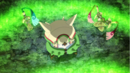 Chesnaught, Honedge and Doublade being revived.png