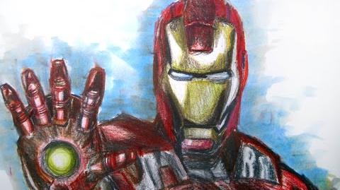 Marvel DC Comics Iron Man Time Lapse Drawing