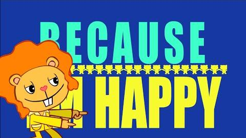 Pharrell Williams - Happy Tree Friends Version (Lyrics Video)