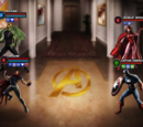 Wiccan and Hulkling vs Mother Heroic Battle