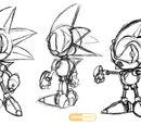Mecha Sonic MKI and MKII