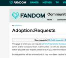 Help:Adopting a community