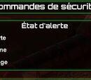 Commandes de sécurité