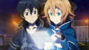 Philia and Kirito navigating the Hollow Area.png