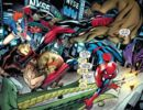 Hateful Hexad (Earth-616) vs. Peter Parker (Earth-616) and Wade Wilson (Earth-616) from Spider-Man Deadpool Vol 1 9 001.jpg