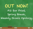 Weekly Goals Apology