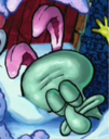 Squidward Wearing Rabbit Ears.png