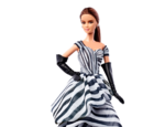 Black and White Collection Chiffon Ball Gown Barbie Doll