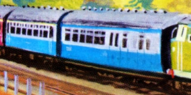 原作第23巻の急行客車(水色)