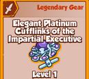 Elegant Platinum Cufflinks of the Impartial Executive (Legendary)